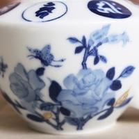 ラサの華 ~青花本金彩梵字薔薇文茶壷~のサムネイル