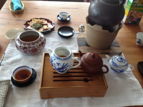 景徳鎮の茶器で即興のお茶会