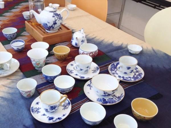 景徳鎮の茶器で奇古堂の烏龍茶を-2014年6月1日のワークショップ