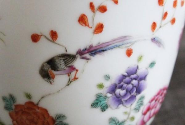 【景徳鎮の絵付け】綬帯鳥-寿をあらわすおめでたい鳥