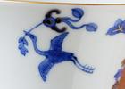 本景徳鎮ホンハイの天平文馬蹄杯、魅力の一つは繊細な絵付け