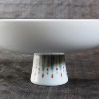 五福を描いたコンポート皿、老料粉彩五福捧寿図果盤のサムネイル